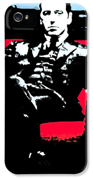 American Crime Film iPhone 5 Cases - The Godfather iPhone 5 Case by Luis Ludzska