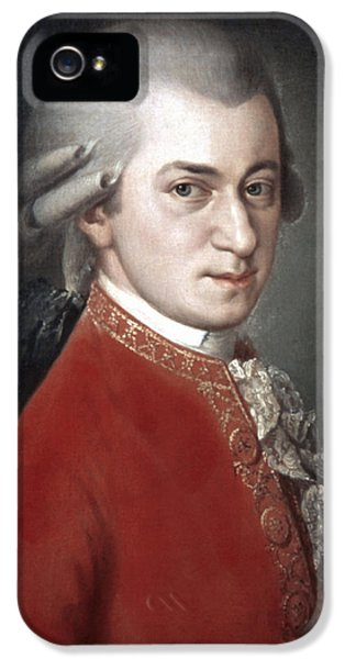 Composer iPhone 5 Cases - Wolfgang Amadeus Mozart iPhone 5 Case by Granger