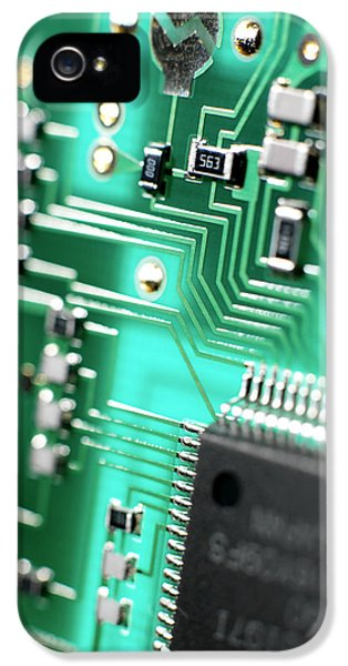 Technology Equipment iPhone 5 Cases - Circuit Board iPhone 5 Case by Tek Image