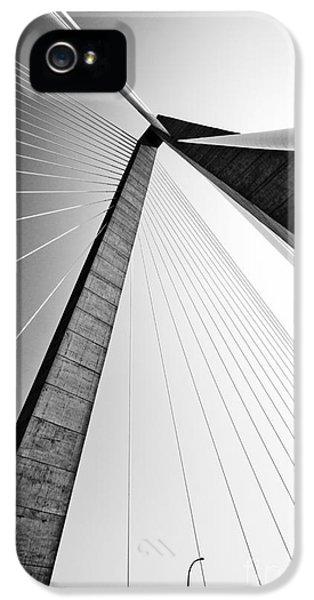 Cable iPhone 5 Cases - Arthur Ravenel Jr Bridge Charleston SC Cooper River iPhone 5 Case by Dustin K Ryan