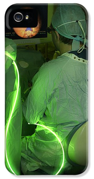 Non-cancerous iPhone 5 Cases - Endoscopic Prostate Surgery iPhone 5 Case by Mr Gordon Muirtony Mcconnell