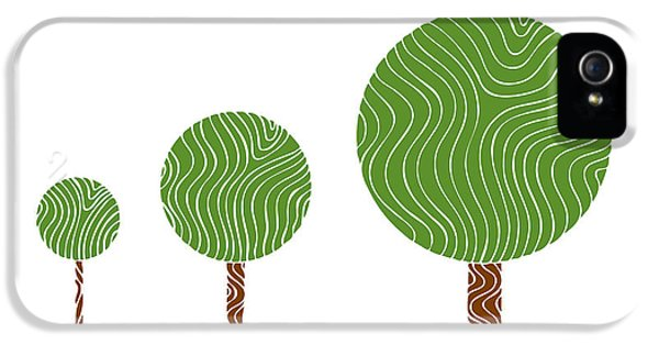 Eco iPhone 5 Cases - 3 Trees iPhone 5 Case by Frank Tschakert