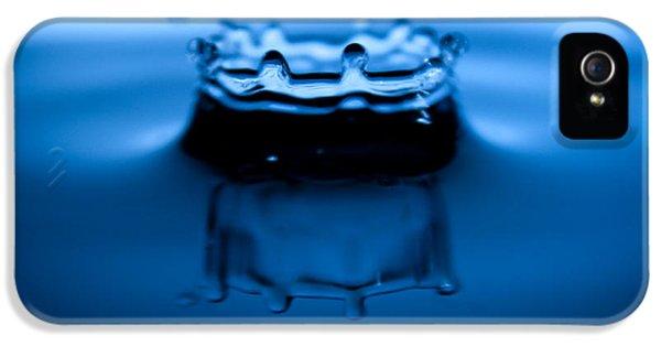 Water Drop iPhone 5 Cases - Water Droplet Crown iPhone 5 Case by Dustin K Ryan