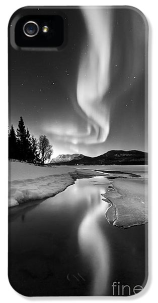 Reflection iPhone 5 Cases - Aurora Borealis Over Sandvannet Lake iPhone 5 Case by Arild Heitmann