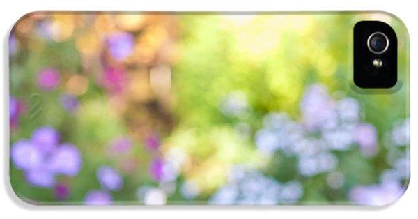 Garden iPhone 5 Cases - Flower garden in sunshine iPhone 5 Case by Elena Elisseeva