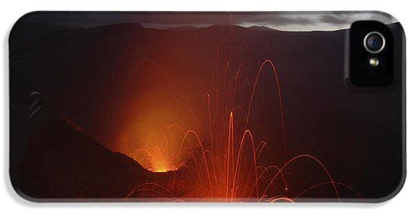Outburst iPhone 5 Cases - Yasur Eruption, Tanna Island, Vanuatu iPhone 5 Case by Martin Rietze