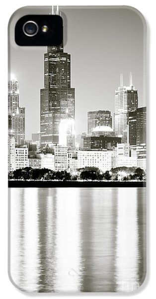 Vertical iPhone 5 Cases - Chicago Skyline at Night iPhone 5 Case by Paul Velgos
