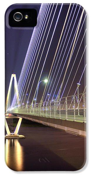 Cable iPhone 5 Cases - Arthur Ravenel Jr. Bridge  iPhone 5 Case by Dustin K Ryan