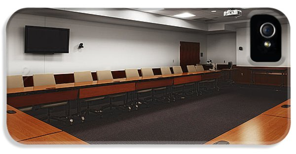 Colour Image iPhone 5 Cases - A Large Conference Room With Tables iPhone 5 Case by Christian Scully