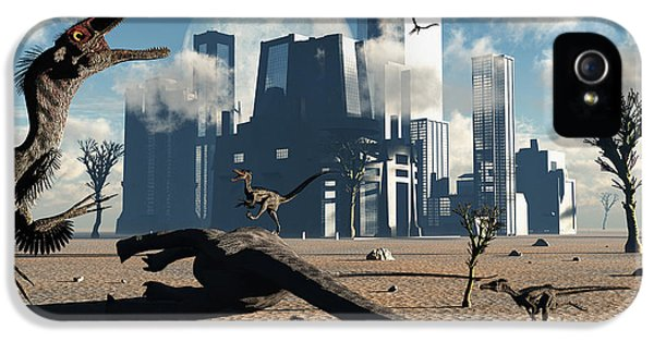 Roaming iPhone 5 Cases - A Pack Of Velociraptors Come iPhone 5 Case by Mark Stevenson