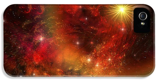 Complexity iPhone 5 Cases - A Star Explodes Sending Out Shock Waves iPhone 5 Case by Corey Ford