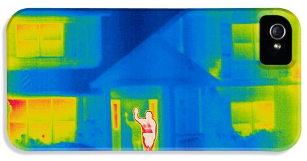 Greet iPhone 5 Cases - A Thermogram Of A Person Waving In House iPhone 5 Case by Ted Kinsman