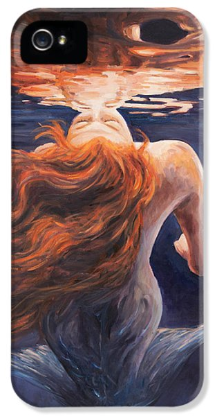 Lady iPhone 5 Cases - A trick of the light - love is illusion iPhone 5 Case by Marco Busoni