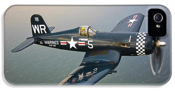 Speed iPhone 5 Cases - A Vought F4u-5 Corsair In Flight iPhone 5 Case by Scott Germain