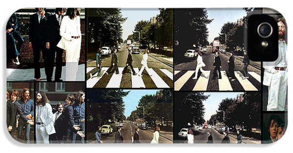 The Beatles iPhone 5 Cases - Abbey Road Photo Shoot iPhone 5 Case by Paul Van Scott