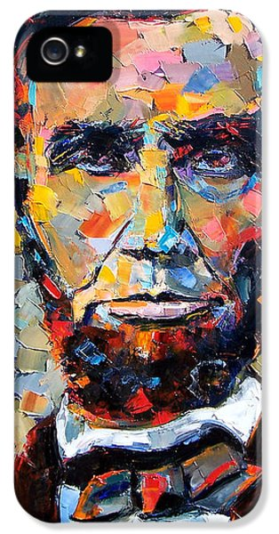 Textures iPhone 5 Cases - Abraham Lincoln portrait iPhone 5 Case by Debra Hurd