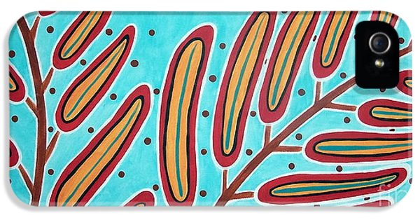 Fern iPhone 5 Cases - Abstract Ferns iPhone 5 Case by Karla Gerard