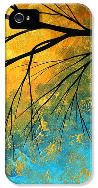 Abstract Art iPhone 5 Cases - Abstract Landscape Art PASSING BEAUTY 2 of 5 iPhone 5 Case by Megan Duncanson