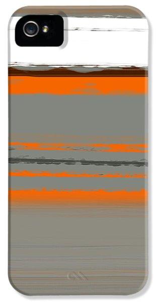 Decorative iPhone 5 Cases - Abstract Orange 2 iPhone 5 Case by Naxart Studio