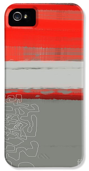 Bold iPhone 5 Cases - Abstract Red 1 iPhone 5 Case by Naxart Studio