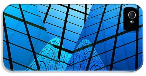 Reflection iPhone 5 Cases - Abstract Skyscrapers iPhone 5 Case by Setsiri Silapasuwanchai
