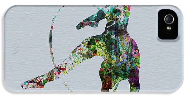 Beautiful Dancer iPhone 5 Cases - Acrobatic dancer iPhone 5 Case by Naxart Studio