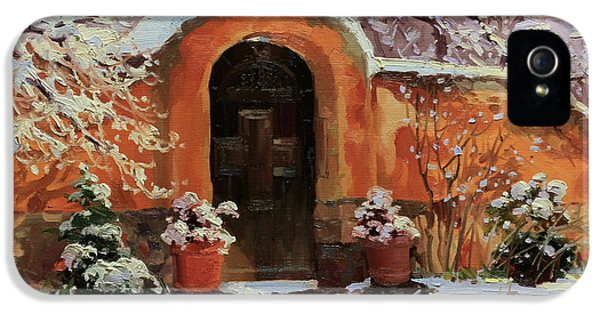 Gary Kim - Page 2 Adobe-wall-with-wooden-door-in-snow-gary-kim