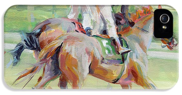 Equine iPhone 5 Cases - After the Finish iPhone 5 Case by Kimberly Santini