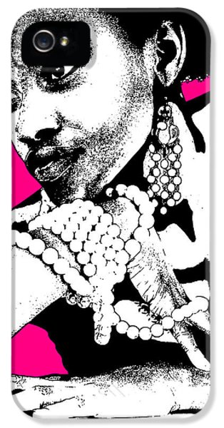 African iPhone 5 Cases - Aisha Pink iPhone 5 Case by Naxart Studio