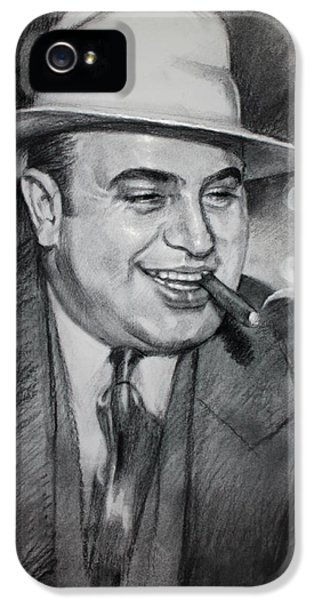Wise iPhone 5 Cases - Al Capone  iPhone 5 Case by Ylli Haruni