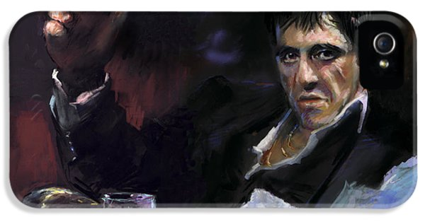 Scarface iPhone 5 Cases - AL Pacino snow iPhone 5 Case by Ylli Haruni