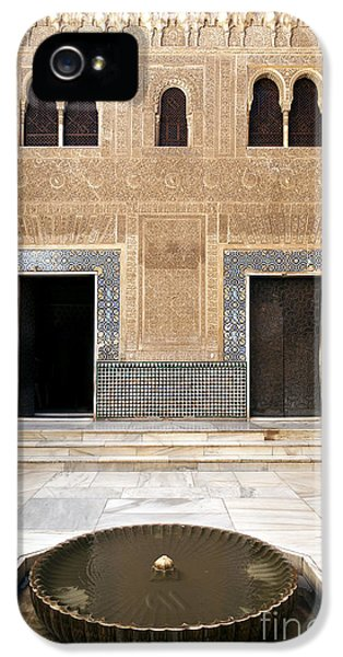 Andalusia iPhone 5 Cases - Alhambra inner courtyard iPhone 5 Case by Jane Rix