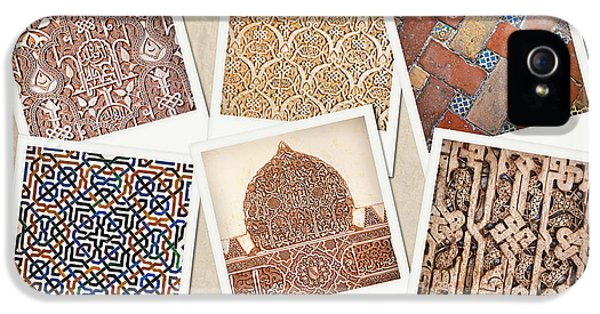 Andalusia iPhone 5 Cases - Alhambra textures iPhone 5 Case by Jane Rix
