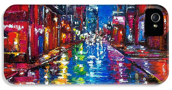 City Scene iPhone 5 Cases - All Night Long iPhone 5 Case by Debra Hurd