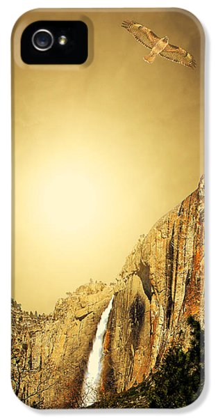 Red Tailed Hawk iPhone 5 Cases - Almost Heaven iPhone 5 Case by Wingsdomain Art and Photography