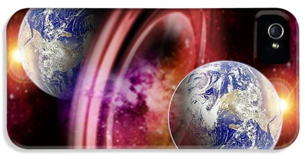 Astrophysics iPhone 5 Cases - Alternate Dimensions, Conceptual Artwork iPhone 5 Case by Victor Habbick Visions