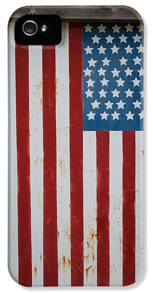 Stars And Strips iPhone 5 Cases - America Locked iPhone 5 Case by Nathan Larson