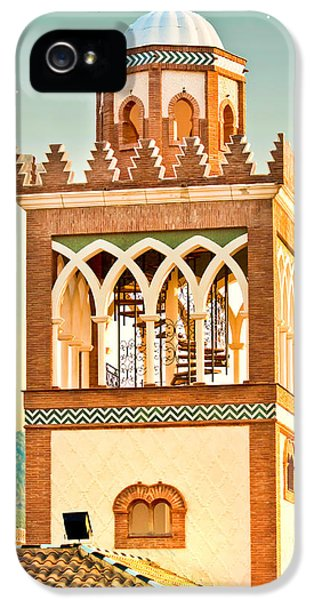 Andalusia iPhone 5 Cases - Andalucian minaret iPhone 5 Case by Tom Gowanlock