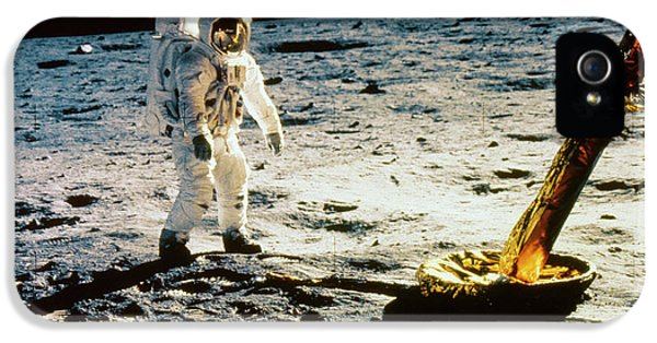 Anti-gravity iPhone 5 Cases - Apollo 11 Lunar Module iPhone 5 Case by Granger