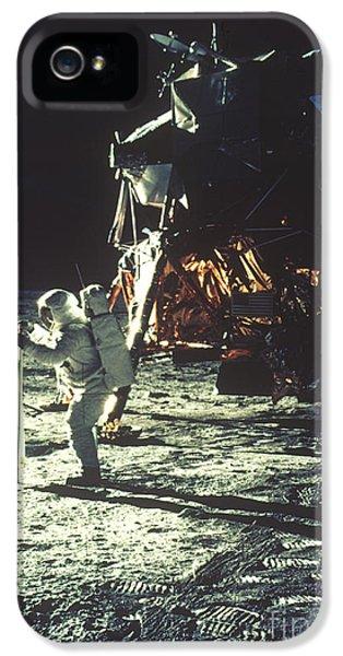 Anti-gravity iPhone 5 Cases - Apollo 11: Sun Sheet iPhone 5 Case by Granger