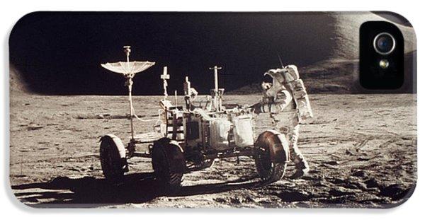Anti-gravity iPhone 5 Cases - Apollo 15, 1971 iPhone 5 Case by Granger