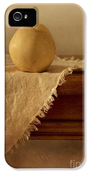 Tables iPhone 5 Cases - Apple Pear On A Table iPhone 5 Case by Priska Wettstein