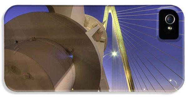 Cable iPhone 5 Cases - Arthur Ravenel Jr. Bridge Charleston SC iPhone 5 Case by Dustin K Ryan