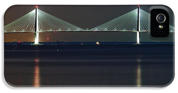 Cable iPhone 5 Cases - Arthur Ravenel Jr. Bridge II iPhone 5 Case by Dustin K Ryan