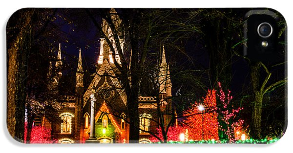 Slc iPhone 5 Cases - Assembly Hall SLC Christmas iPhone 5 Case by La Rae  Roberts