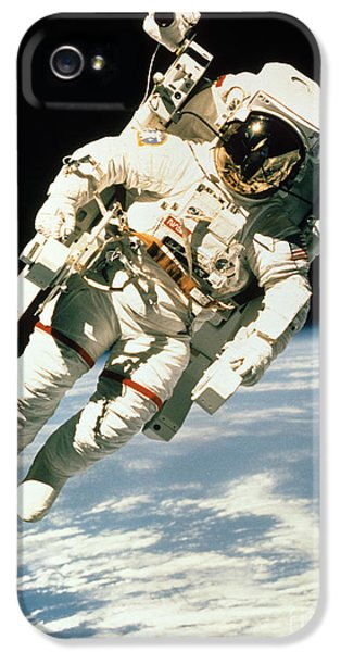 Astronomy iPhone 5 Cases - Astronaut In Space iPhone 5 Case by NASA / Science Source