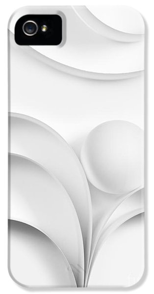 Curve iPhone 5 Cases - Ball and Curves 02 iPhone 5 Case by Nailia Schwarz