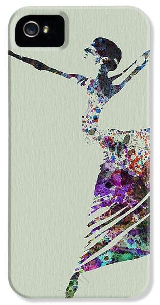 Glamour iPhone 5 Cases - Ballerina dancing watercolor iPhone 5 Case by Naxart Studio