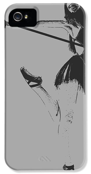 Cane iPhone 5 Cases - Ballet girl iPhone 5 Case by Naxart Studio