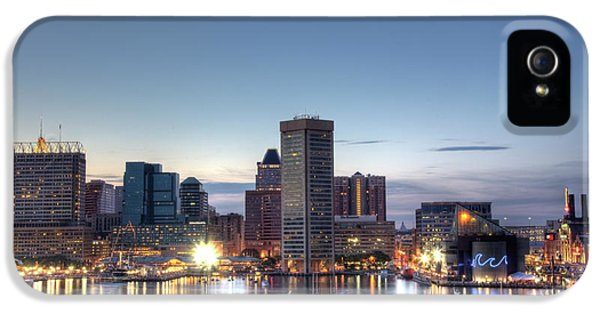 Harbor iPhone 5 Cases - Baltimore Harbor iPhone 5 Case by Shawn Everhart